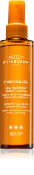 Institut Esthederm Sun Care opaľovací olej na telo a vlasy s vysokou UV ochranou