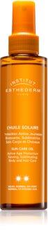 Institut Esthederm Sun Care olio abbronzante per corpo e capelli a media protezione UV