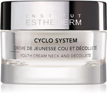Institut Esthederm Cyclo System pomlajevalna krema za vrat in dekolte