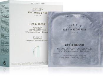 Institut Esthederm Lift & Repair gladilna maska za predel okoli oči v obliki obliža