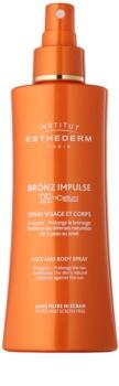 Institut Esthederm Bronz Impulse émulsion accélérateur et prolongateur de bronzage en spray visage et corps