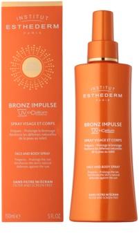 Institut Esthederm Bronz Impulse Gezicht en Lichaam Spray Emulsie voor snel en langdurig Bruinen
