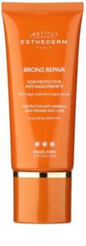 Institut Esthederm Bronz Repair spevňujúci protivráskový krém na tvár s vysokou UV ochranou