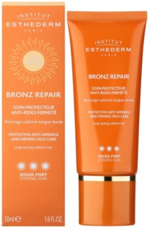 Institut Esthederm Bronz Repair cremă facială antirid pentru fermitate cu o protectie UV ridicata