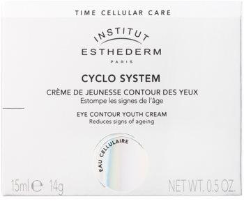 Institut Esthederm Cyclo System crema rejuvenecedora para contorno de ojos con efecto regenerador e iluminador inmediato