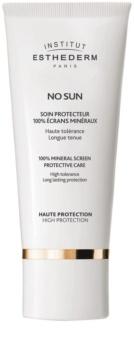 Institut Esthederm No Sun crème protectrice 100 % écrans minéraux visage et corps haute protection solaire
