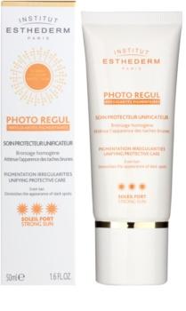 Institut Esthederm Photo Regul zjednocujúca starostlivosť o pleť s hyperpigmentáciou s vysokou UV ochranou