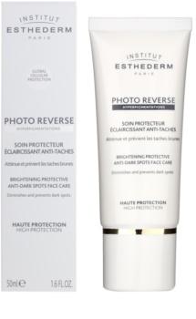 Institut Esthederm Photo Reverse rozjasňujúca ochranná starostlivosť proti pigmentovým škvrnám s vysokou UV ochranou