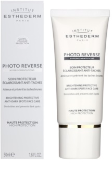 Institut Esthederm Photo Reverse Verhelderende Beschermende Verzorging tegen Pigmentvlekken  met Hoge UV Bescherming