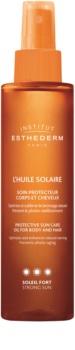 Institut Esthederm Sun Care óleo solar para corpo e cabelo com alta proteção UV