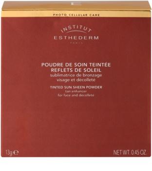 Institut Esthederm Sun Sheen bronzer na obličej a dekolt