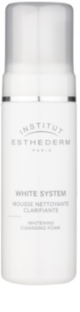 Institut Esthederm White System mousse de limpeza com efeito branqueador