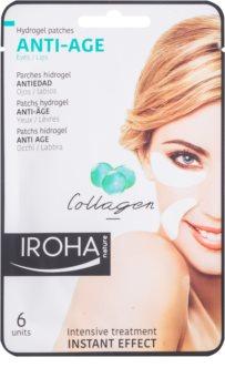 Iroha Anti - Age Collagen protivrásková maska na okolí očí a rtů
