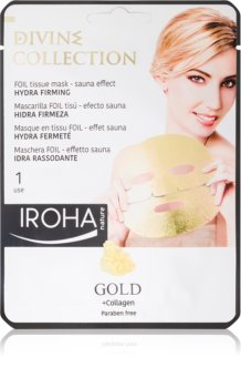 Iroha Divine Collection Gold & Collagen Moisturizing And Nourishing Mask with Firming Effect