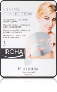 Iroha Divine Collection Platinum & Hyaluronic Acid Hydrating and Brightening Mask