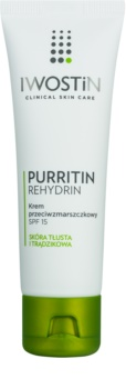 Iwostin Purritin Rehydrin protivráskový krém pro mastnou pleť se sklonem k akné