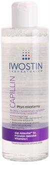Iwostin Capillin água micelar de limpeza para a pele sensível com tendência a aparecer com vermelhidão