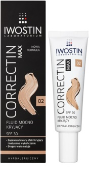 Iwostin Max Correctin стійкий матуючий флюїд для чутливої шкіри SPF 30