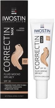 Iwostin Max Correctin dlhodobo krycí zmatňujúci fluid pre citlivú pleť SPF 30