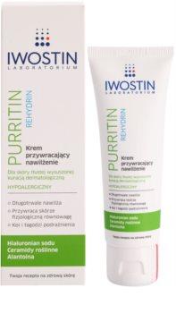 Iwostin Purritin Rehydrin crema hidratante para pieles resecas e irritadas debido a un tratamiento de acné