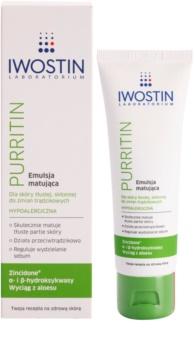 Iwostin Purritin matirajoča emulzija za mastno k aknam nagnjeno kožo