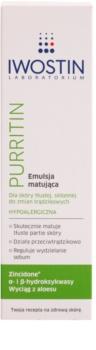 Iwostin Purritin emulsión matificante  para pieles grasas con tendencia acnéica