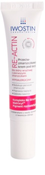 Iwostin Re-Actin crème yeux anti-rides pour peaux sensibles