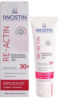 Iwostin Re-Actin noční protivráskový krém pro citlivou pleť