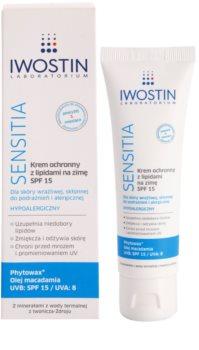 Iwostin Sensitia creme de proteção com lipídios contra o frio e vento SPF 15