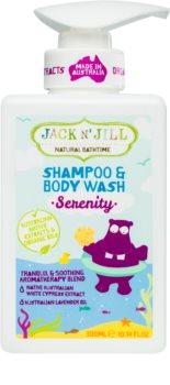 Jack N' Jill Serenity jemný sprchový gel a šampon pro děti 2 v 1