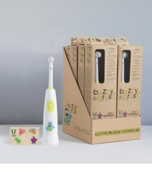 Jack N' Jill Buzzy Brush escova de dentes infantil com música soft