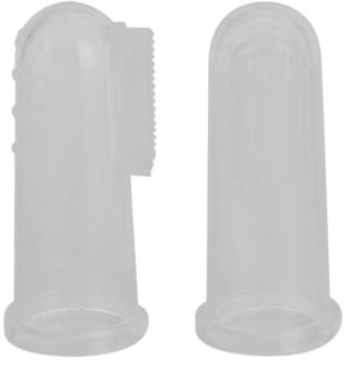 Jack N' Jill Silicone escova de dentes infantil para colocar no dedo soft