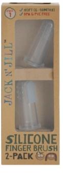 Jack N' Jill Silicone detská zubná kefka na prst soft