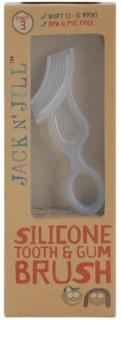 Jack N' Jill Silicone kartáček pro děti na zuby a dásně soft