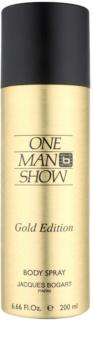 Jacques Bogart One Man Show Gold Edition Körperspray für Herren 200 ml