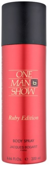 Jacques Bogart One Man Show Ruby Edition Body Spray for Men 200 ml