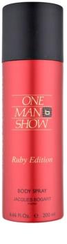 Jacques Bogart One Man Show Ruby Edition telový sprej pre mužov 200 ml