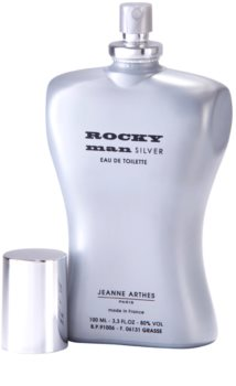 Jeanne Arthes Rocky Man Silver Eau de Toilette for Men 100 ml
