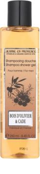 Jeanne en Provence Olive Wood & Juniper gel de duche para homens 250 ml