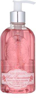 Jeanne en Provence Captivating Rose tekuté mýdlo s pumpičkou