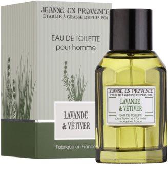 Jeanne en Provence Lavander & Vétiver Eau de Toilette voor Mannen 100 ml