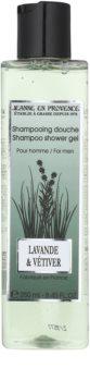 Jeanne en Provence Lavander & Vétiver душ гел за мъже 250 мл.