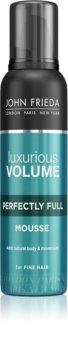 John Frieda Luxurious Volume Perfectly Full mousse fixante