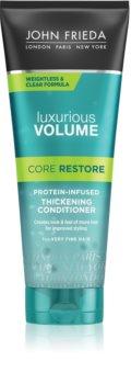 John Frieda Luxurious Volume Core Restore après-shampoing volumisant pour cheveux  fins