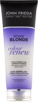 John Frieda Sheer Blonde Colour Renew condicionador com cor para cabelo loiro e grisalho