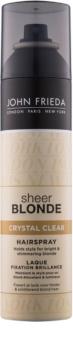 John Frieda Sheer Blonde Crystal Clear laca para cabelo loiro e com madeixas