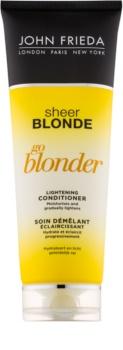 John Frieda Sheer Blonde Go Blonder condicionador iluminador para cabelo loiro e grisalho