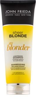 John Frieda Sheer Blonde Go Blonder zesvětlujicí šampon pro blond vlasy
