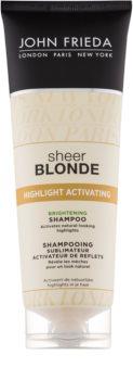 John Frieda Sheer Blonde Highlight Activating champô iluminador para cabelo loiro e grisalho