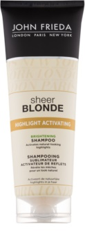 John Frieda Sheer Blonde Highlight Activating champú iluminador para cabello rubio